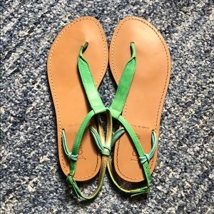 J crew leather thong sandals, size 7